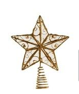Kurt Adler 6-1/4-Inch Gold Wire Star Treetop holiday - $13.56
