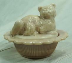 Cat on Nest Salt Dip Creamy Chocolate Glass Mosser - $16.82