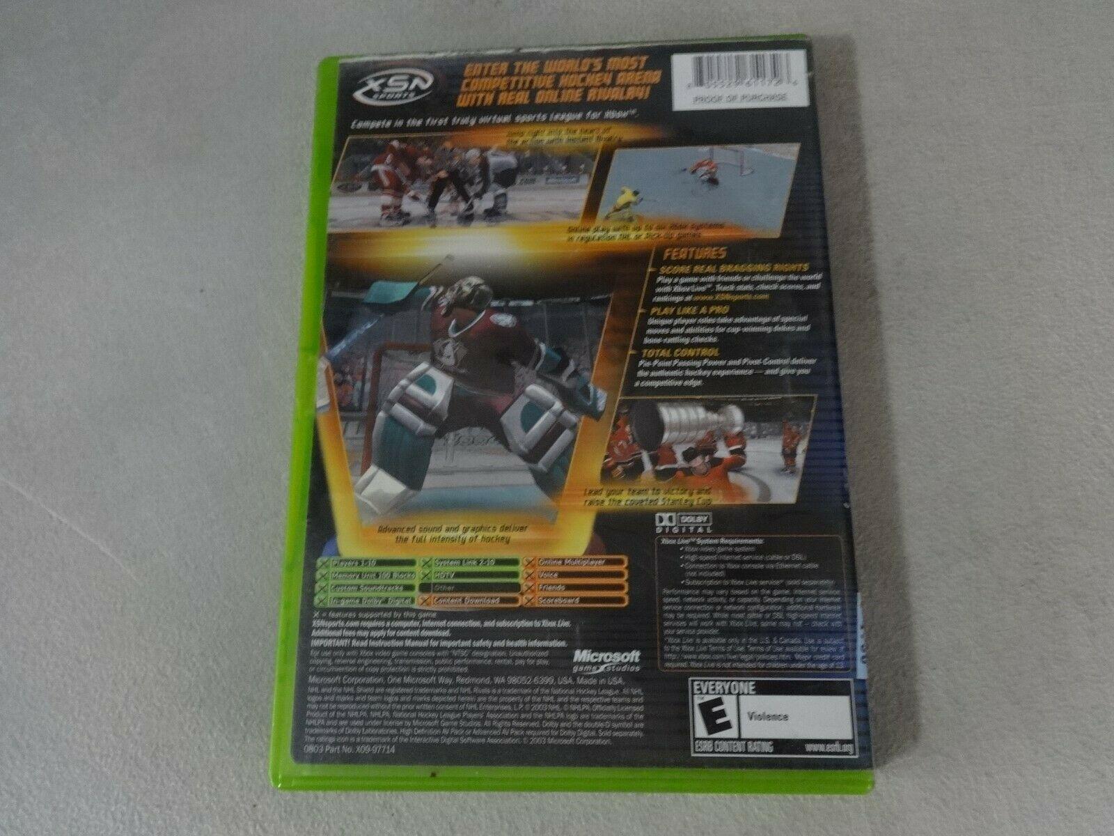 NHL Rivals 2004 Original Microsoft Xbox Game Complete Free Ship