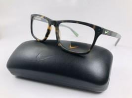 New NIKE 7238 200 Matte Tortoise & Green Strike Eyeglasses 52mm with NIK... - $89.05