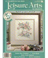 1 Vintage 1991 April Leisure Arts Magazine 24 Projects Coasters Mugs Afg... - $7.99