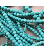 6mm Imitation Blue Turquoise Howlite Round Beads, 1 16in Strand, stone - $6.00
