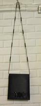 Jessica Simpson Black Satin Beaded Embroidery Cross Body Evening Bag Purse - $13.95