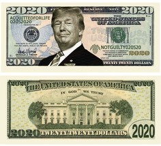 Pack of 100 - Donald Trump 2020 Re-Election Presidential Dollar Bills Ac... - $14.95