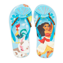 MOANA DISNEY PRINCESS Girls Flip Flops Beach Sandals w/ Optional Sunglas... - $10.88+