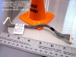 "Sharp Aquos 42"" LC-42D62U Cable from Main Board @[PH] to Power Board @[PH]  - $14.95"