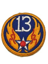 Original Wwii Usaaf U.S. Army 13th Air Force Color Patch No Glow - $8.59
