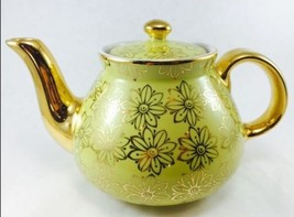 Beautiful Vintage Teapot Hall Canary Yellow wit... - $72.58