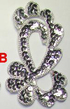 pair appliques sequins applikationen pailletten sew on embroidery handmade ap122 - $6.99