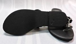 Leather sandals Vera patent Wang 5 so 6 Genuine size Black Simply Thong NICE 48OEwqxTt