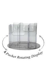 Lot of 6 Clear Acrylic 4 Pocket Tri-Fold Brochu... - $149.99