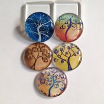 Tree of life magnets, Tree magnets, Glass magnets, Tree magnet set, Natu... - $10.00