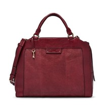NWT $328 Fossil  Logan Large Leather Work Bag Wine - $162.36