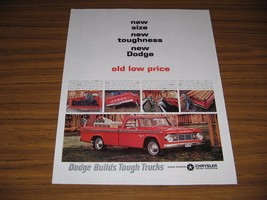 1965 Print Ad The '65 Dodge D100 Sweptline Pickup Truck Red - $13.57
