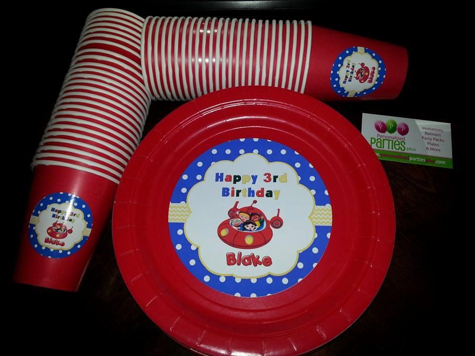 Little Einsteins plates & cups   Little Einstein birthday plates and cups image 5