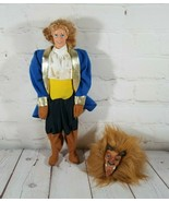 1992 Vintage Disney The Beauty & The Beast  Blonde Hair Doll With Beast ... - $26.15