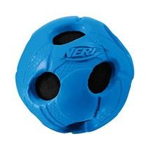 Nerf Dog Wrapped Squeak Bash Ball: Ø 5.1cm, Single Unit ( Assorted Colors) - £14.15 GBP