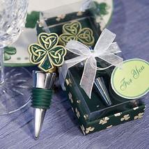 12 Shamrock Trinity Love Knot Wine Bottle Stoppers Irish Wedding Favors - £22.38 GBP