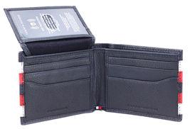 Tommy Hilfiger Men's Leather Wallet Passcase Billfold RFID Navy Red 31TL220104 image 9