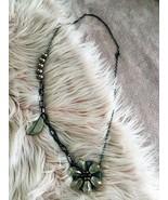 Statement Long Bead + Flower Glass Necklace - Big Bold Beautiful - $8.00