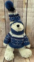 BOYDS BEARS Bearwear Collection Snow Ski Hand Knit Sweater & Hat NEW - $14.69