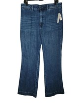 Talbots high rise waist Flare straight flawless jeans 14P New - $64.35