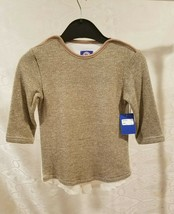 Monsieur Pullover Sweater Girls Tops Size 6X 7 Gold & White Long Sleeves... - $6.00