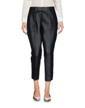 Trendy Cropped Stylish Formal Style Women's Genuine Soft Lamb Skin Leather Pants