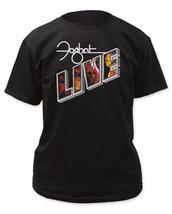 Foghat-Live Logo-Medium Black  T-shirt - $16.44