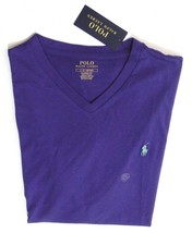 POLO RALPH LAUREN (V-NECK) CLASSIC FIT TEE T SHIRT PURPLE MENS SZ LARGE ... - $22.94