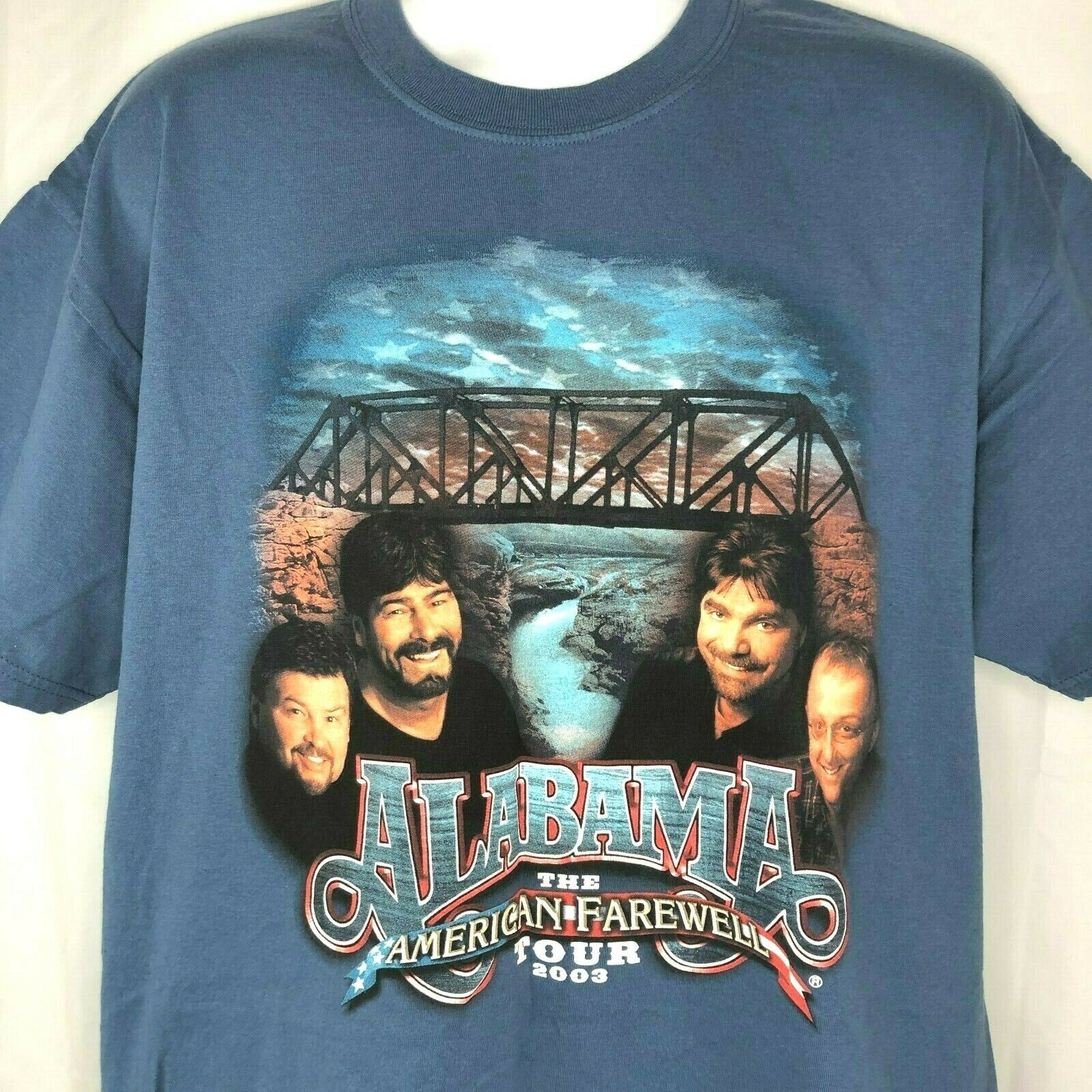 Primary image for Alabama American Farewell Tour 2003 T-Shirt XL Country Legends USA Cities Back