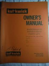 Kut-Kwick J1000-36 J1600-36 lawn tractor original owner's parts manual **rare - $16.41