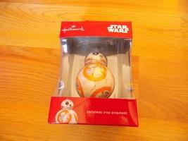 Hallmark Disney Star Wars BB8 Droid Christmas Holiday Ornament New 2016 - $16.00