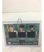 2004 Sweet Spot Sweet Threads Triple Bobby Crosby Joe Mauer Kazuo Matsui... - $30.00