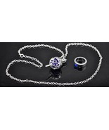 Puella Magi Madoka Magica I I Soul Gem Pendant Necklace and Ring set dar... - $10.22