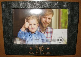 "GRASSLANDS ROAD 4"" X 6"" ""DAD MAN MYTH LEGEND"" PHOTO FRAME FATHER'S DAY NIB - $17.81"