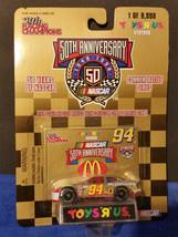 1998 Racing Champions 1/64 Bill Elliot #94 Mcdonalds Toys R Us Gold 1/9998 - $7.55