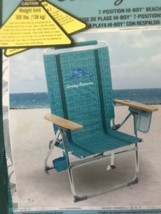 Tommy Bahama 7-Position High-Boy Beach Chair, Blue, New! - $47.49