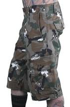 LRG Men's Khaki Wolf Camouflage Unnatural Palette Cargo Walk Shorts 28 image 2
