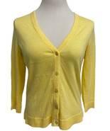 The Limited women's cardigan yellow button front 3/4 sleeve size M - $16.17