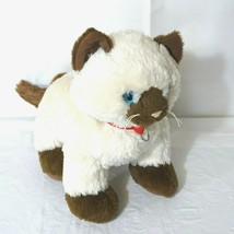 Build A Bear Siamese Himalayan Cat Plush Stuffed Cream Brown Blue Eyes w... - $19.79