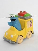 1983 Playskool Sesame Street Cookie Monster Taxi Van Die Cast Metal Vehicle VTG - $8.50