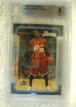 Lebron James RC 2003-2004 Bowman Rookie Card#123 BGS 9 MINT! Cavaliers RC - $296.99