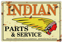 Indian Motorcycle Genuine Parts Vintage Metal Sign 12x18 - $25.74