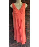 Ann Taylor Loft Stretch Dress Size Small Coral Sleeveless V-Neck $49.50 Tag - $32.55