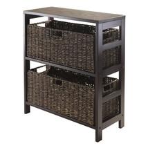 Granville 3pc Storage Shelf with 2 Large Baskets, Espresso - $127.98