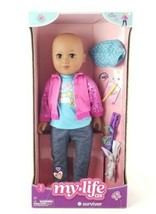 "My Life As Survivor 18"" Doll African American Bald New Posable Earrings Headband - $46.52"