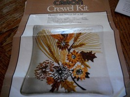 Caron Crewel Kit~Flowers and Wheat 6327 - $24.00