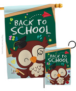 Whoo Back to School - Impressions Decorative Flags Set S137210-BO - $57.97