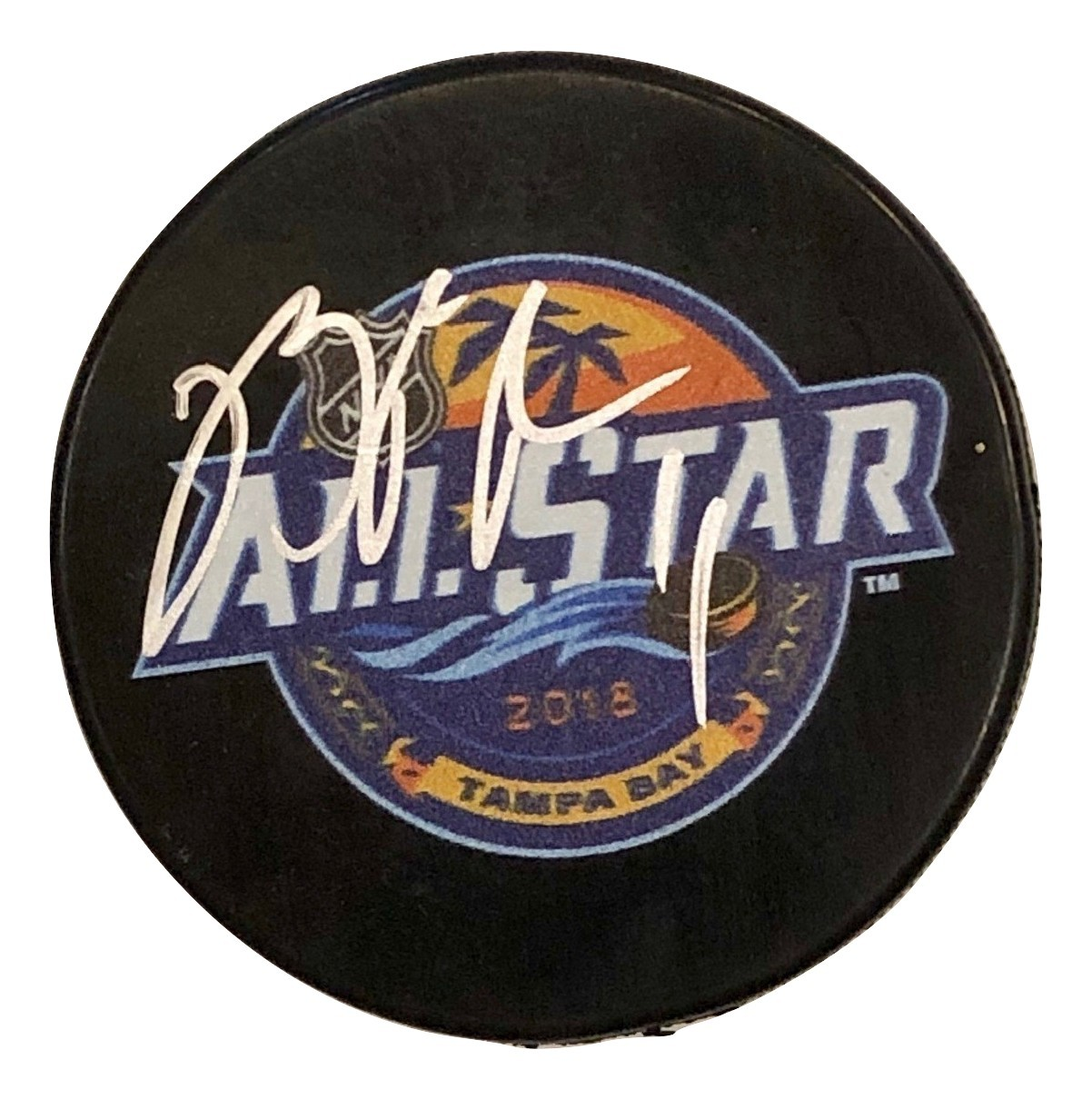 BRIAN BOYLE AUTOGRAPHED HAND SIGNED 2018 ALL-STAR PUCK New Jersey DEVILS w/COA - $49.99